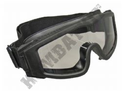 Airsoft Safety Glasses Eye Protection Wrap Around Goggles Black